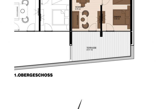 Ferienwohnung in Zell am See - SR, Top 7 - Ap. 60m² mit 2 SZ, Terrasse 20 m²